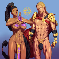 Perfect Warriors Jasmine and Solomon