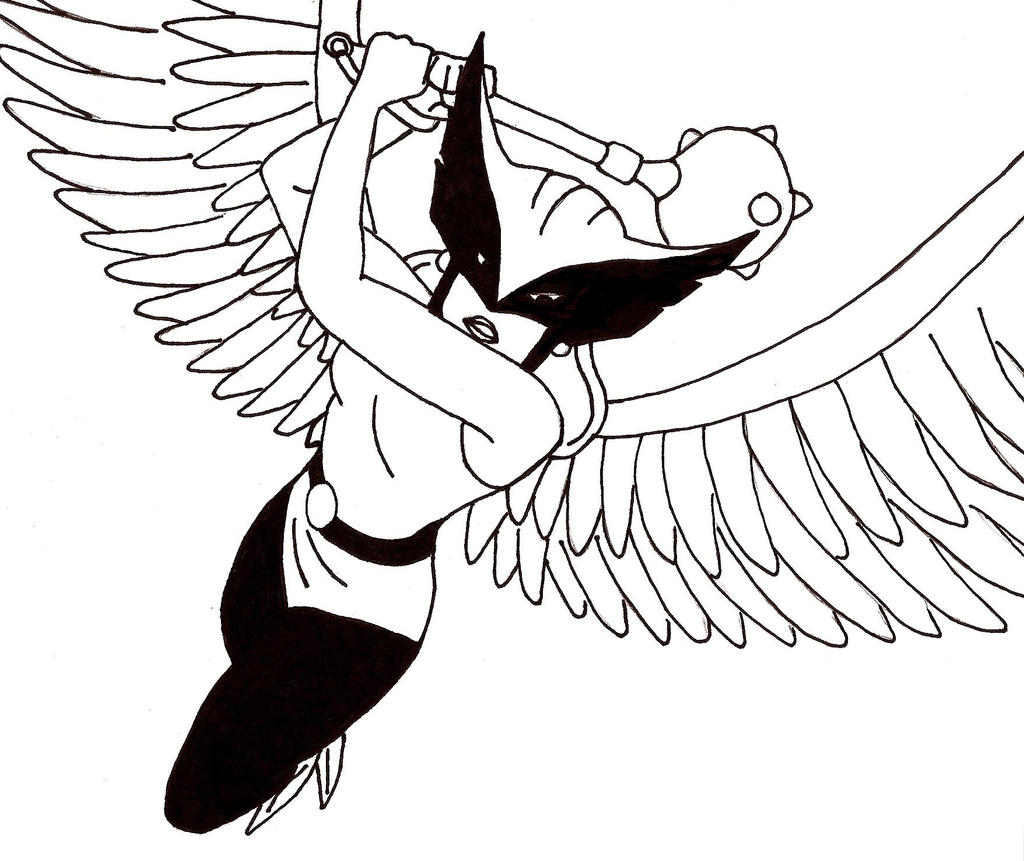 coloring pages of hawkgirl - photo#34