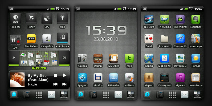 BlackBlue HTC Hero by devi-cry