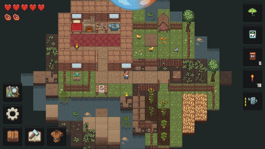 PixelTerra roguelike sandbox game Android and iOS by devi