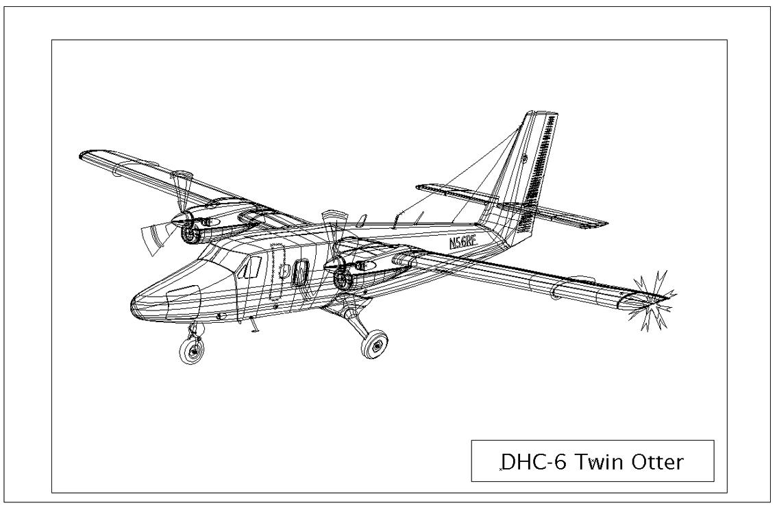 dhc6 twin otter outlineluigila on deviantart