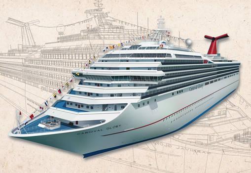 Carnival Cruise Vector Ship