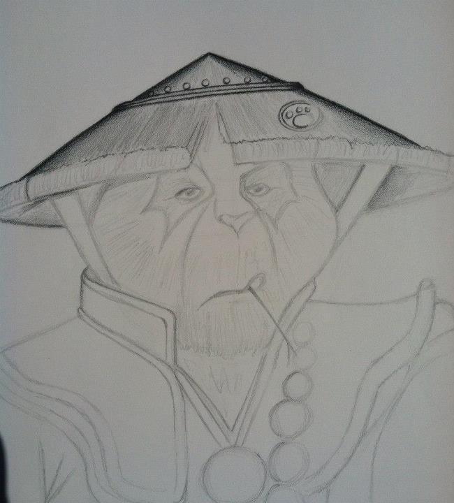 Monk Panda, pencil drawing. Part 2 by LuigiLA