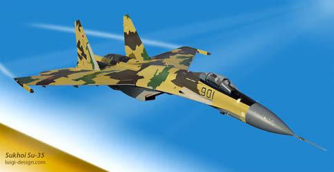 Vector Sukhoi Su-35 Fighter.