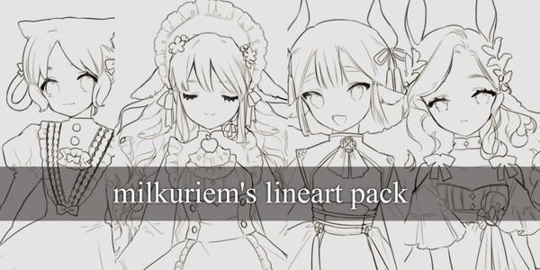 Milkuriem's Lineart Pack [F2C] by milkuriiem