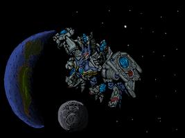 Floating in space by Monsterkatze