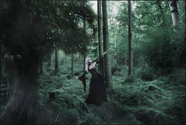 Girl In the Woods (Alone?) by CormorantFeathers