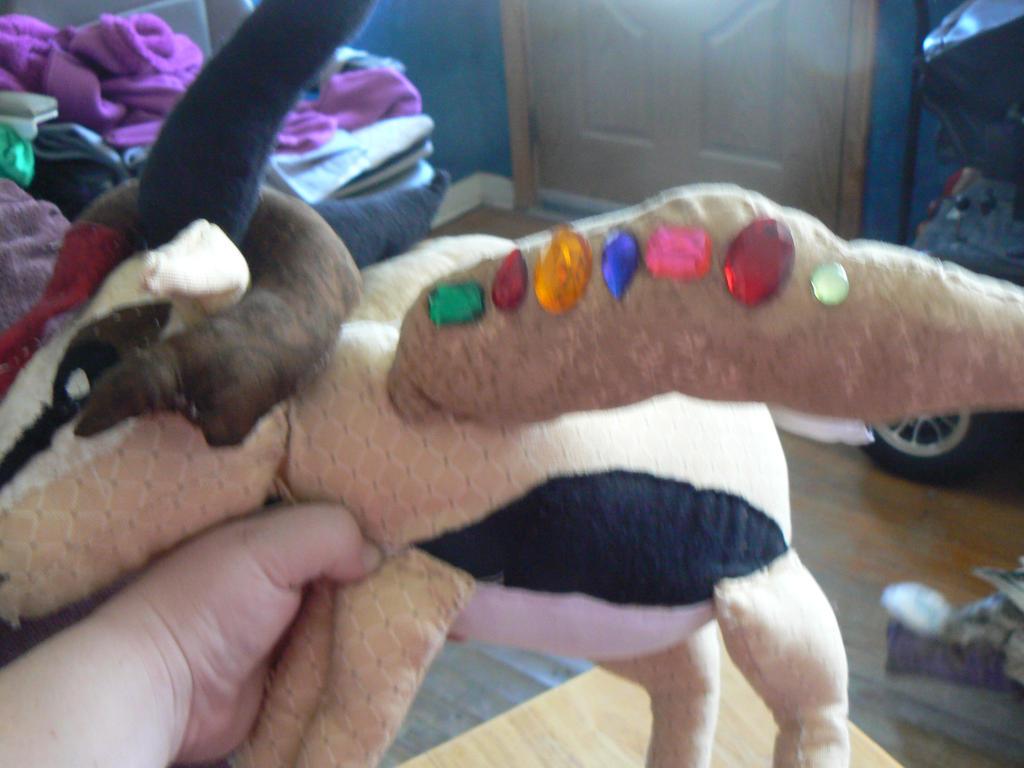 Flaming Gazelle stuffy by RoseWarrior89