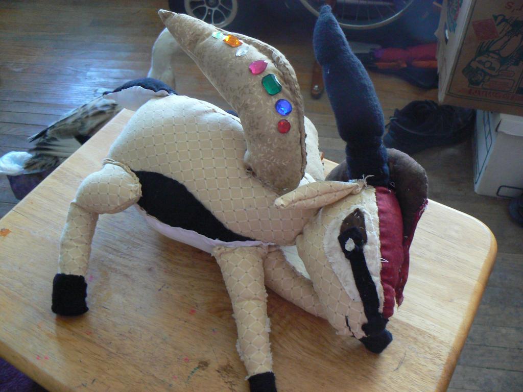 Flaming Gazelle stuffy 2 by RoseWarrior89