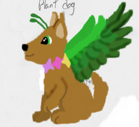 Plant Dog adoptable (open) by RoseWarrior89