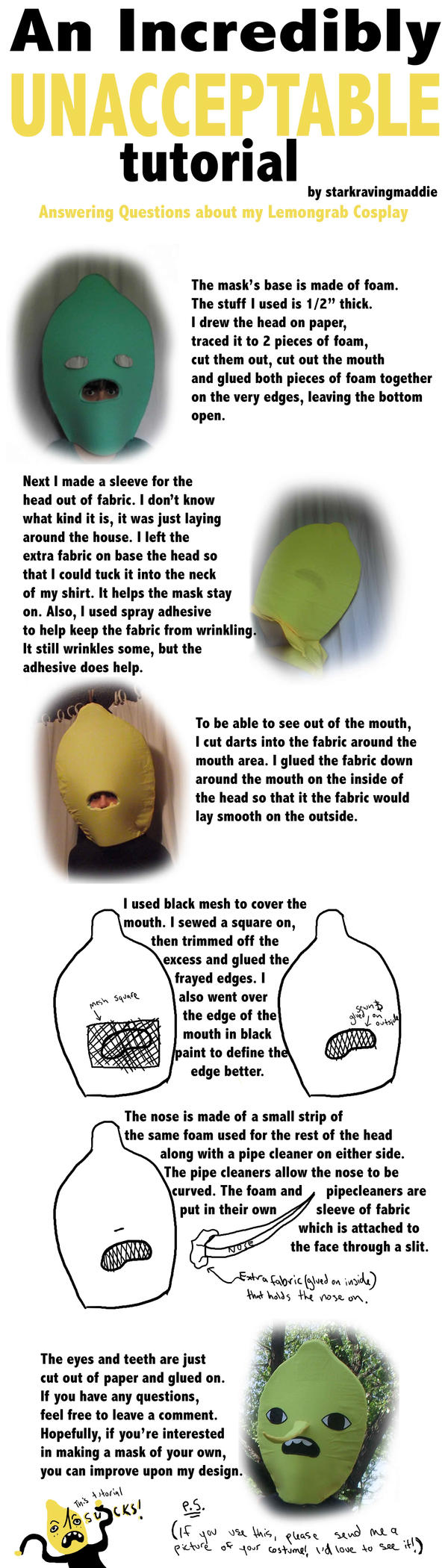 Lame Lemongrab tutorial by StarkRavingMaddie