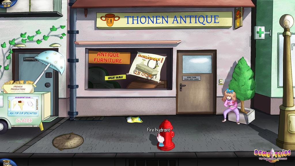 Demetrios : The antique shop (street view) by COWCATGames