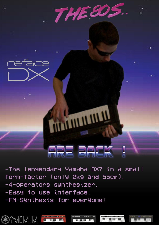 Yamaha Reface DX advertisement poster by KoralVR on DeviantArt
