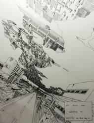 Concept Art [3] - Post-Apocalyptic Cityscape by Bushido-Arts