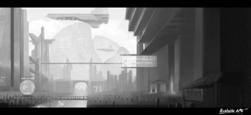 Sci-fi City [Shot 01] by Bushido-Arts