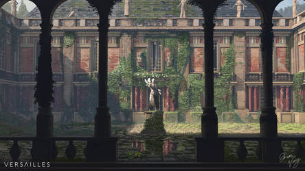 Courtyard Versailles by Bushido-Arts