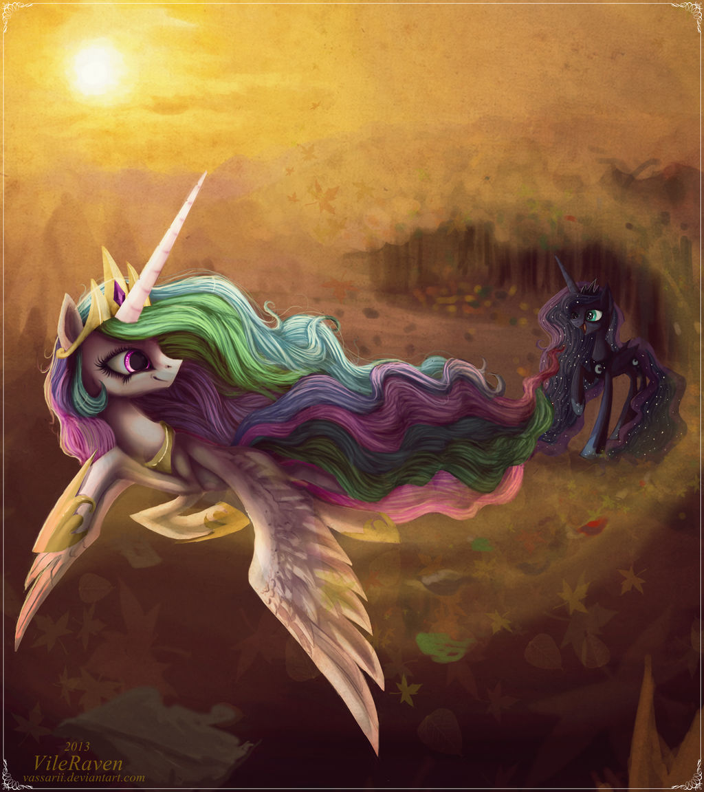 autumn_with_princess_celestia_by_grinu_d