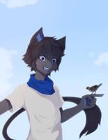 [ArtFight] meow birb by Grinu