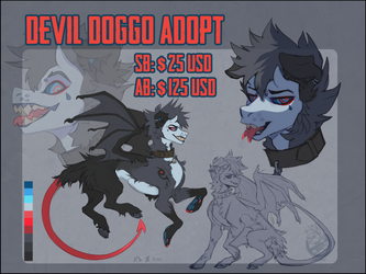 [CLOSED] Devil Doggo Auction by Grinu