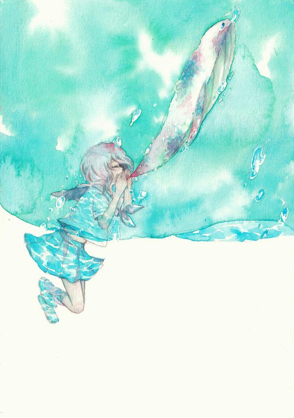 Blowing by yuuta-apple