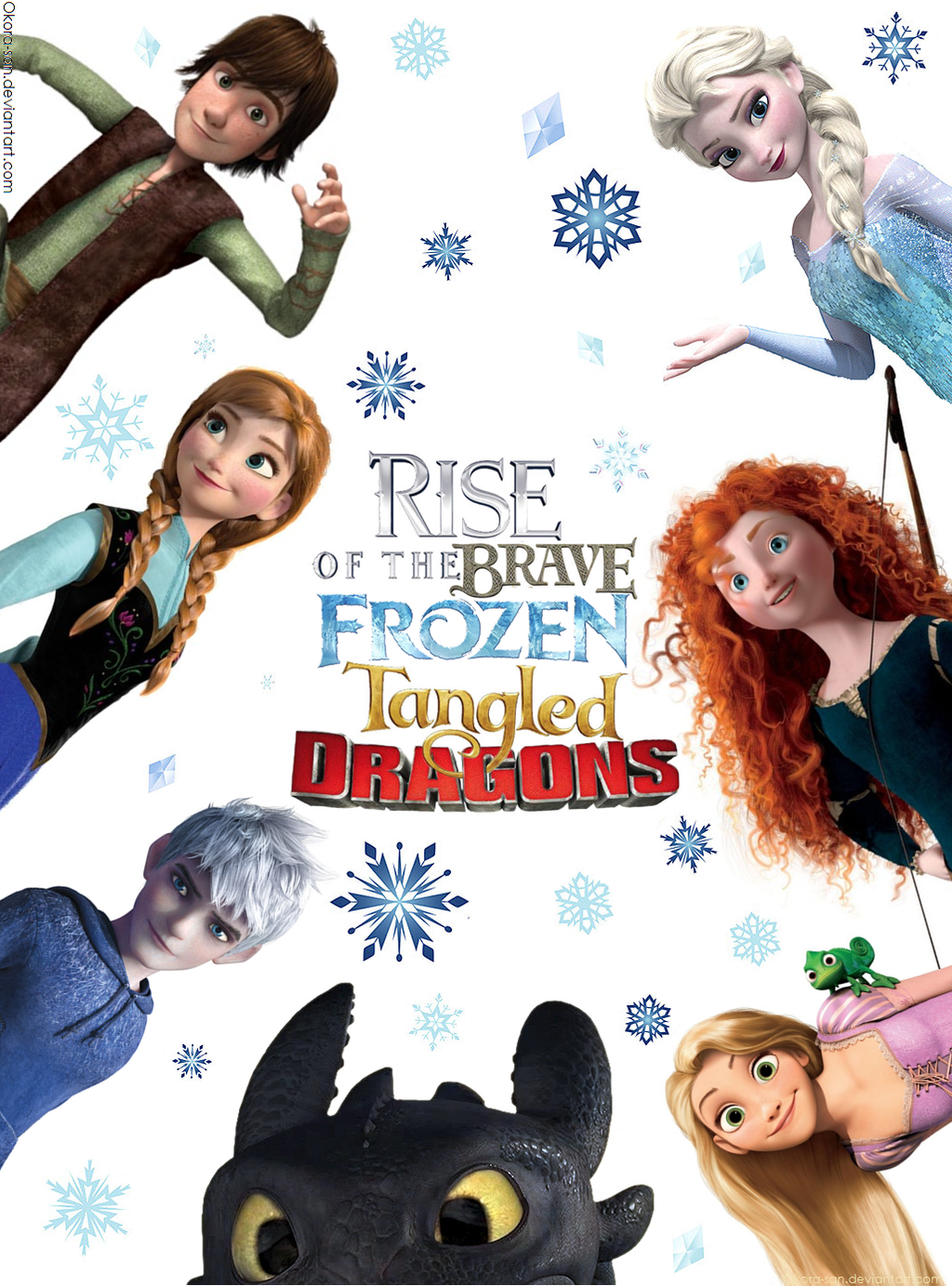 Ask Rise of The Brave Frozen Tangled Dragons by Okora-san ... Frozen Tangled Brave