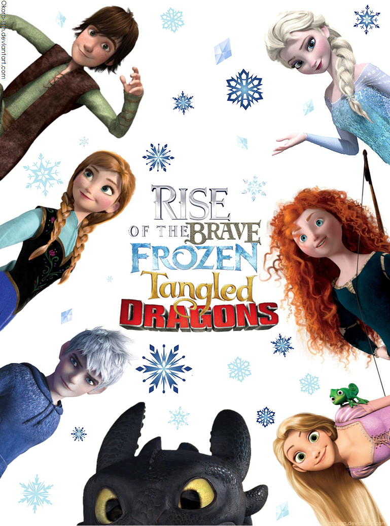 Ask Rise of The Brave Frozen Tangled Dragons by Okora-sanFrozen Tangled Brave