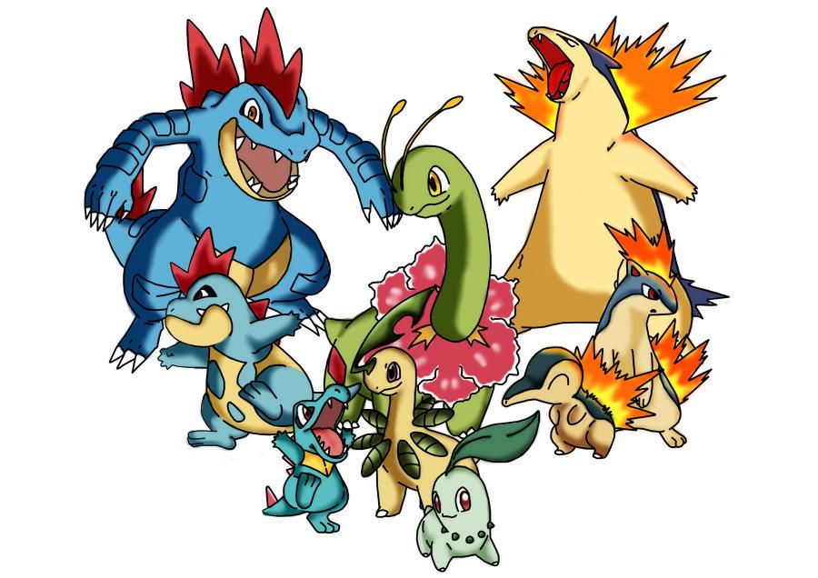 Pokemon mega evolution johto starters
