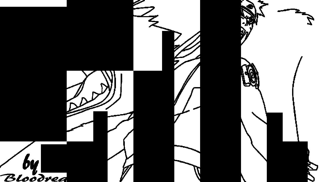 Naruto NineTailed Jinchuuriki Lineart by Advance996 on