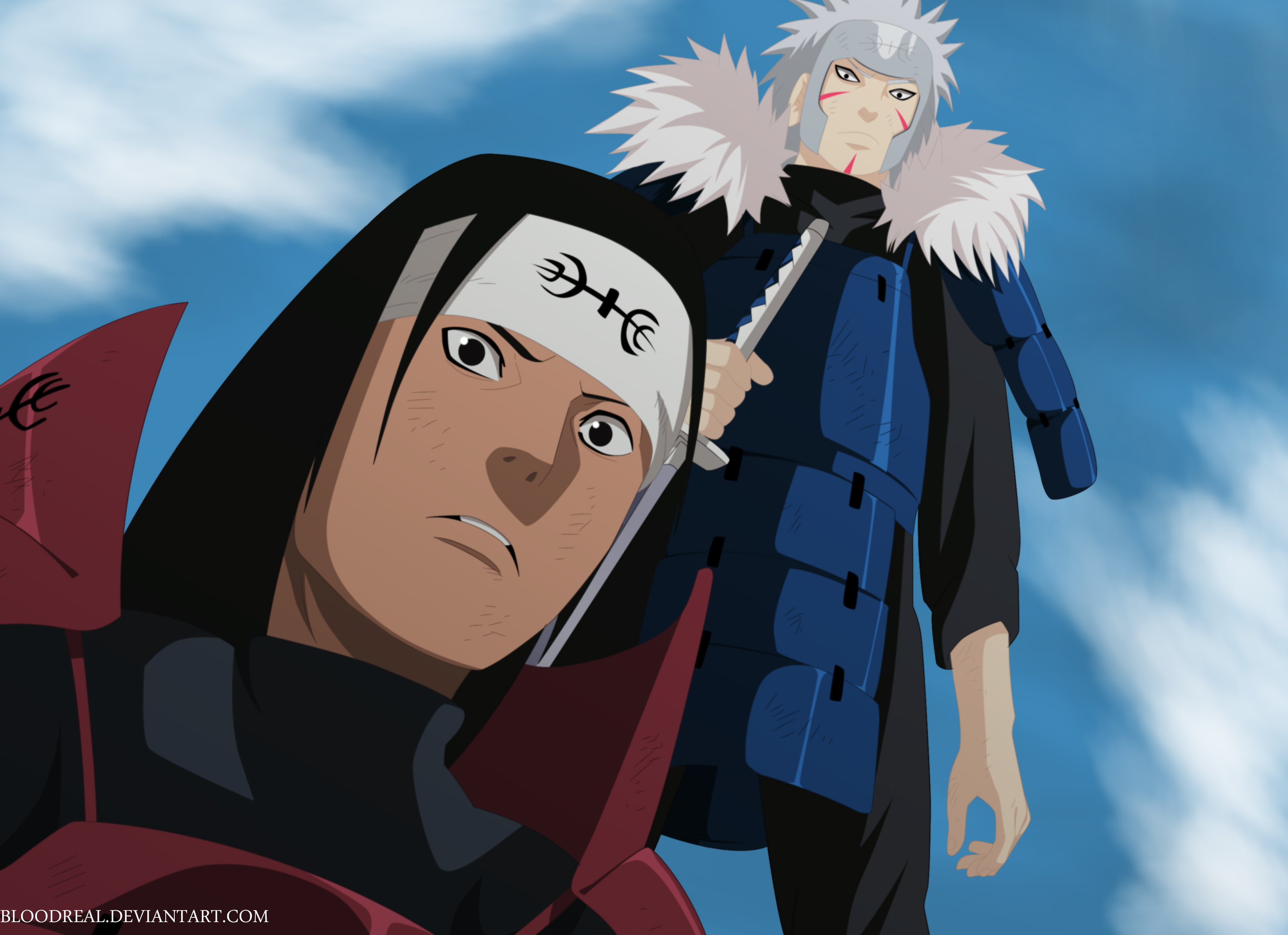 Naruto Manga 624 - Hashirama and Tobirama Senju by Advance996