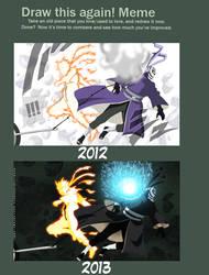 Obito/Tobi vs Naruto by Advance996