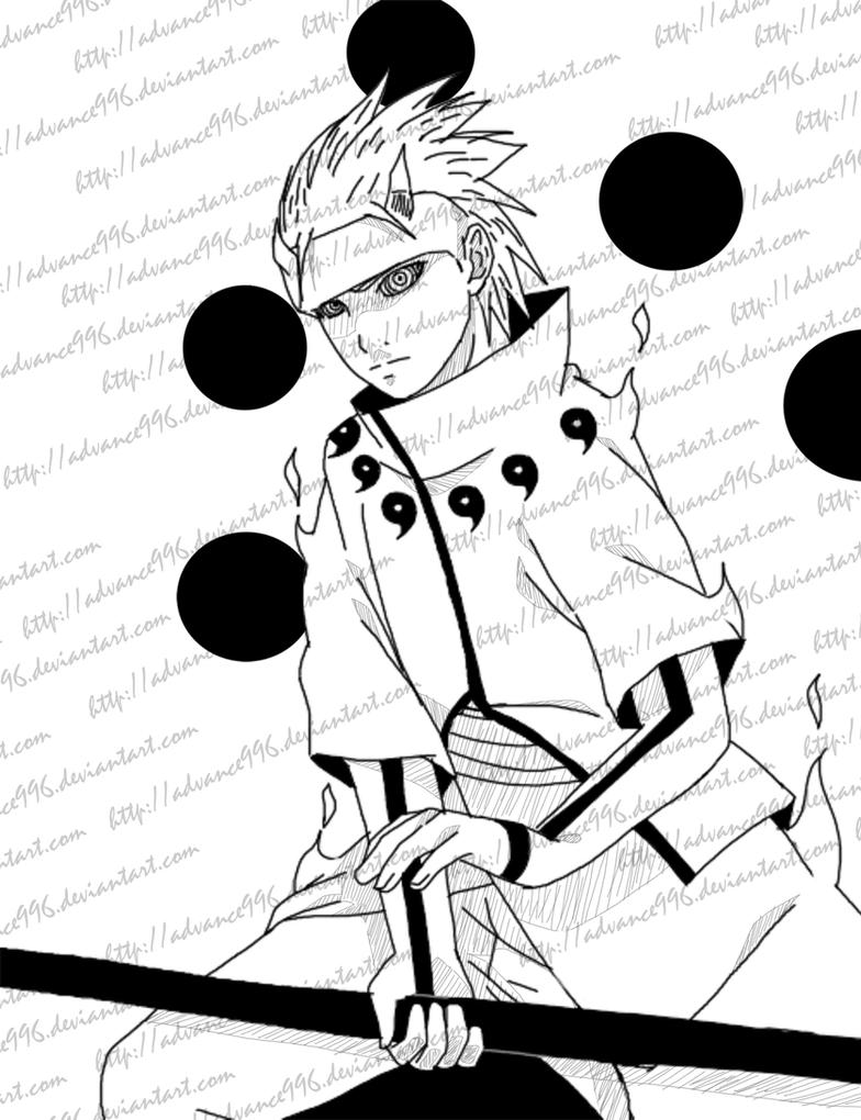 Juubi/Rikudo Sasuke Uchiha by Advance996