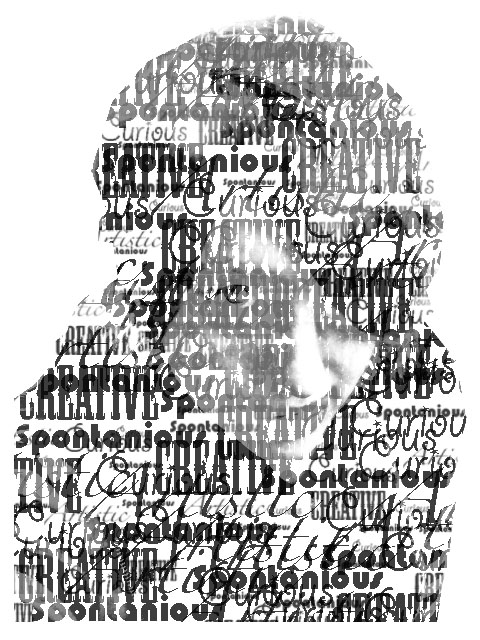 Typography Self Portrait by Mondaichan