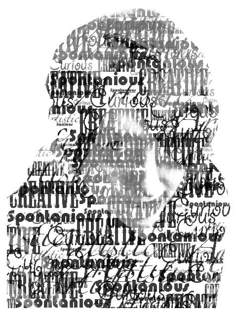 Typography Self Portrait by Mondaichan