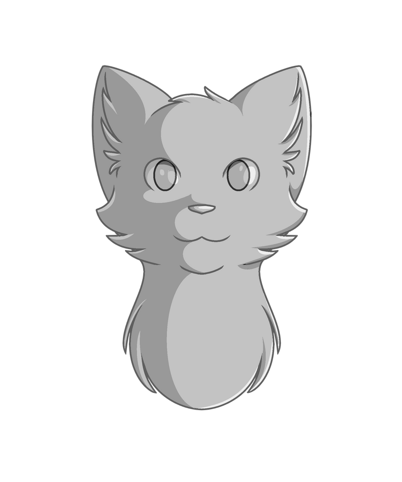 Warrior Cat Heads Coloring Pages