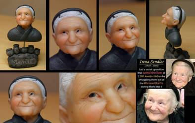 Portrait of Irena Sendler by Marika-Spijkers