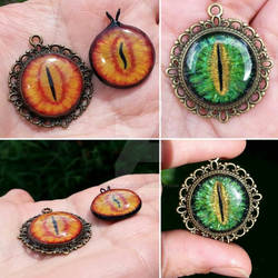 Dragon eye pendants
