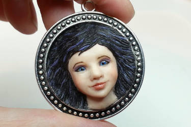 Girl in pendant