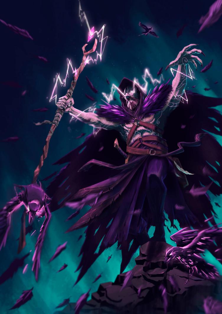 Crow Warlock by gabrielrubio