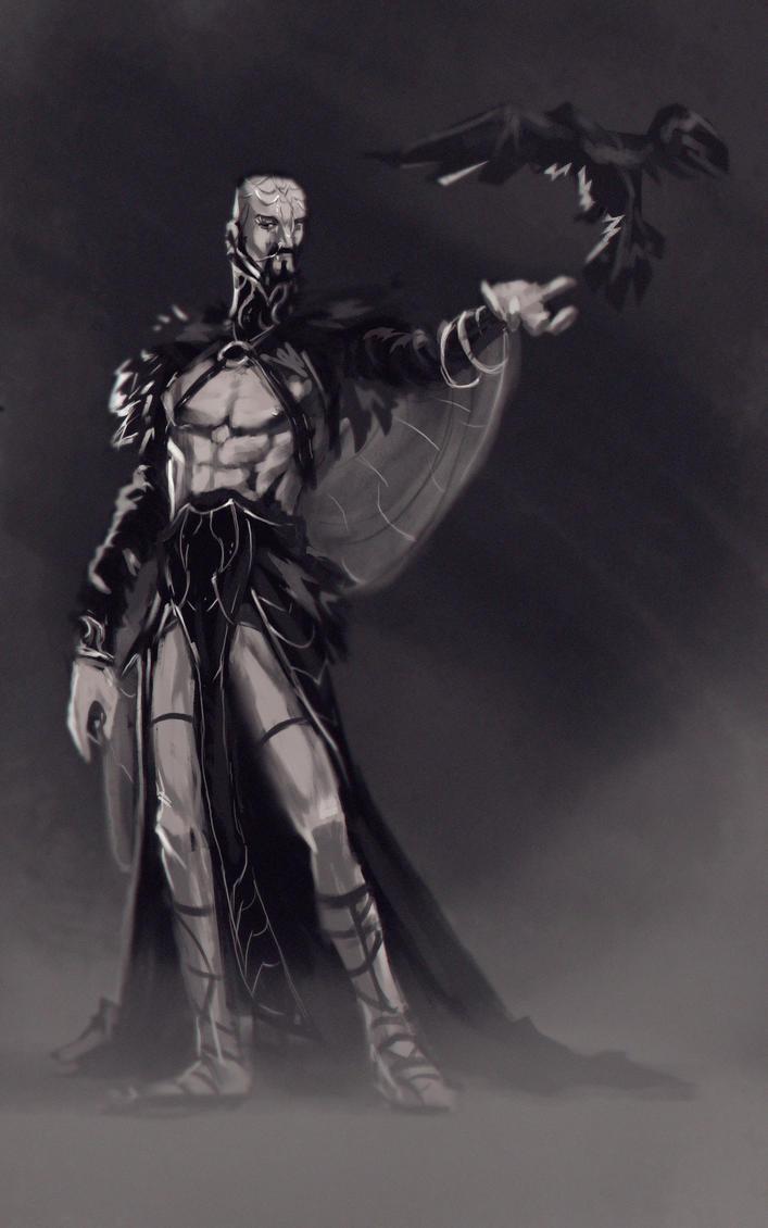 Crow Lord - Digital Sketch by gabrielrubio