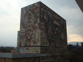 UNAM Biblioteca Central, CU by MexEmperorRamsesII
