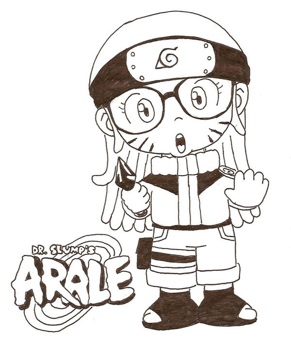 Arale The Ninja By Lilnanny On DeviantArt