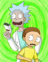 Rick and Morty by Lilnanny