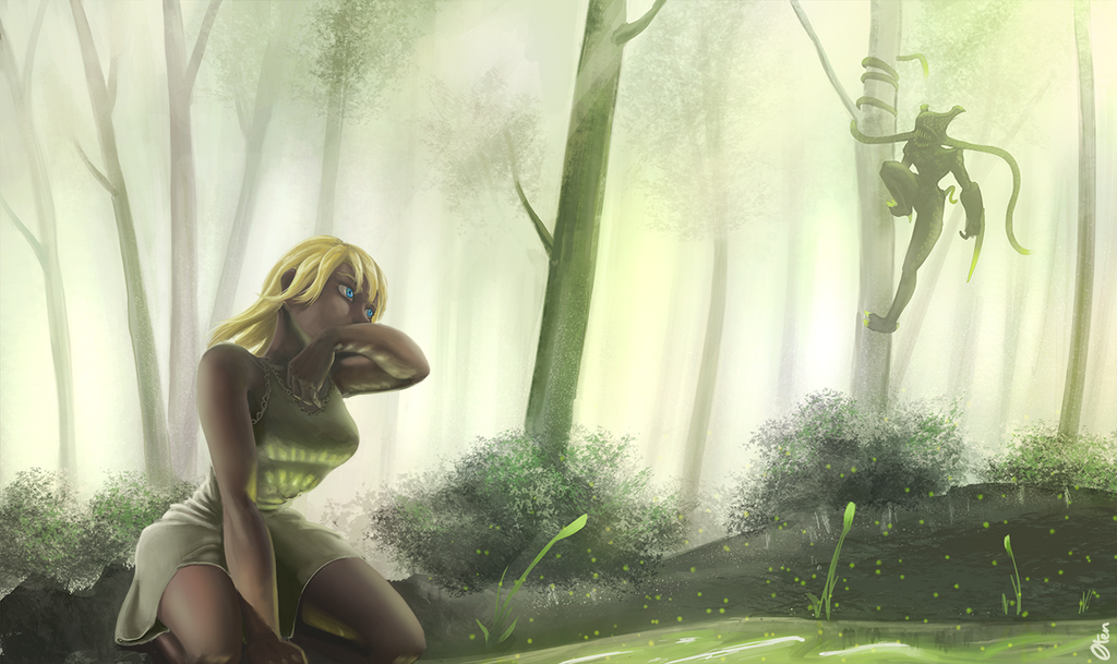 Forest by Oten-Drawings
