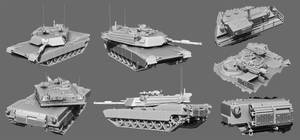 M1A1 Abrams Hi-Poly