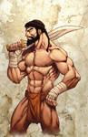 Leonidas poses