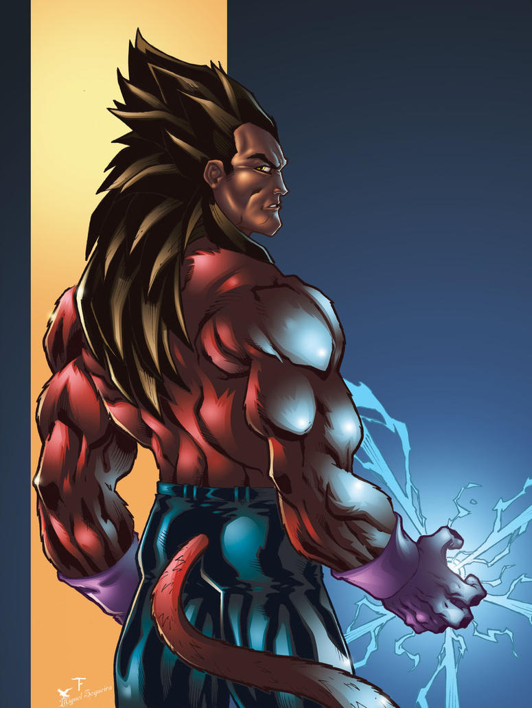 Vegeta SSJ 4 another version by Kid-Destructo