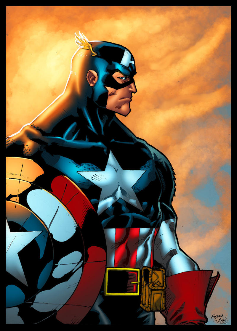 Captain America colored by Kid-Destructo