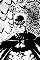 Batman inks by Kid-Destructo