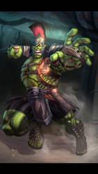 Gladiator Hulk by Kid-Destructo