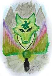 Ghost of green wolf